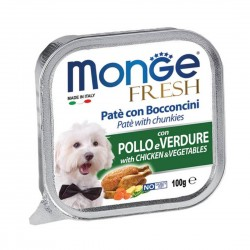 Monge Fresh Dog Wet Food Chicken & Vegetables 100g