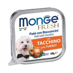 Monge Fresh Dog Wet Food Turkey 100g