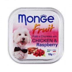 Monge Fruit Dog Wet Food Chicken & Raspberry 100g