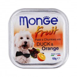 Monge Fruit Dog Wet Food Duck & Orange 100g