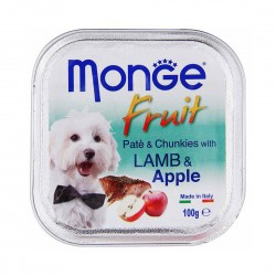 Monge Fruit Dog Wet Food Lamb & Apple 100g