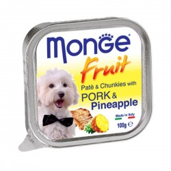 Monge Fruit Dog Wet Food Pork & Pineapple 100g