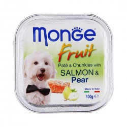 Monge Fruit Dog Wet Food Salmon & Pear 100g
