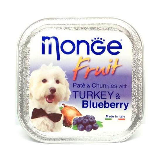 Monge Fruit Dog Wet Food Turkey & Blueberry 100g