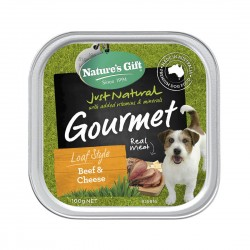 Nature's Gift Dog Tray Food Beef & Cheese 100g