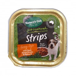 Nature's Gift Dog Tray Food Beef, Potato & Spinach 100g