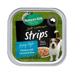 Nature's Gift Dog Tray Food Chicken with Carrot & Peas 100g