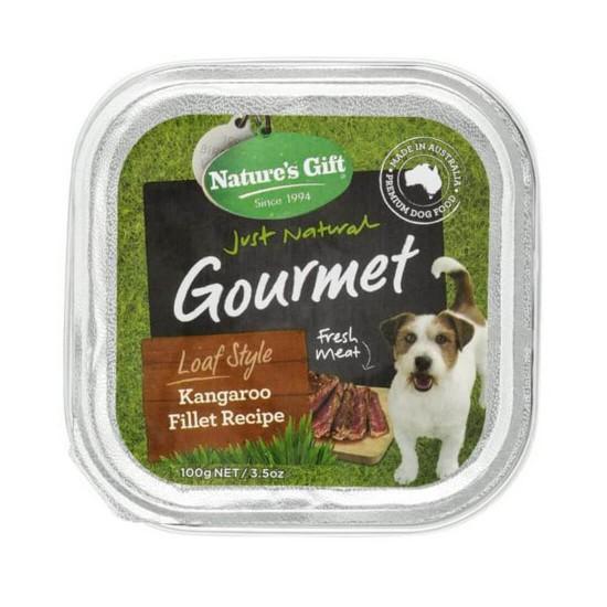 Nature's Gift Dog Tray Food Kangaroo Fillet Recipe 100g