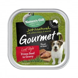 Nature's Gift Dog Tray Food Prime Beef in Gravy 100g