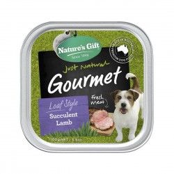Nature's Gift Dog Tray Food Succulent Lamb 100g