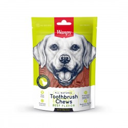 Wanpy Dog Treat All Natural Toothbrush Chew Beef Flavour 100g