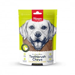 Wanpy Dog Treat All Natural Toothbrush Chew Chicken Flavour 100g