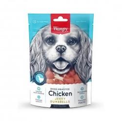 Wanpy Dog Treat Oven Roasted Chicken Jerky Dumbbells 100g