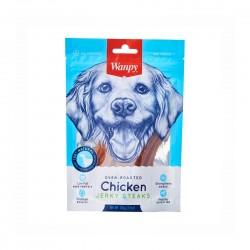 Wanpy Dog Treat Oven Roasted Chicken Jerky Steaks 100g