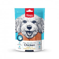 Wanpy Dog Treat Oven Roasted Chicken Jerky & Cheese Slices 100g