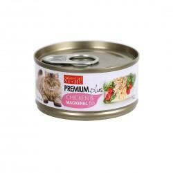 Aristo Cats Cat Canned Food Premium Plus Chicken & Mackerel 80g