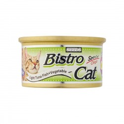Bistro Cat Canned Food Light Tuna Fish & Vegetables 80g