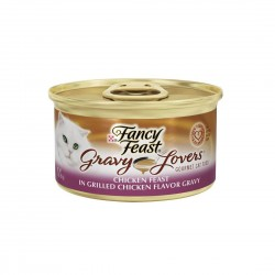 Fancy Feast Cat Canned Food Gravy Lovers Grilled Chicken in Gravy 85g