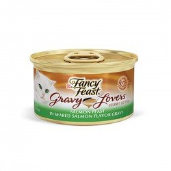 Fancy Feast Cat Canned Food Gravy Lovers Salmon in Gravy 85g