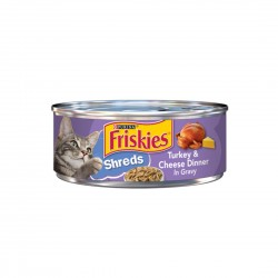 Friskies Cat Canned Food Turkey and Cheese Dinner in Gravy 156g