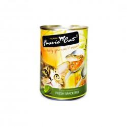 Fussie Cat Canned Food Fresh Mackerel 400g