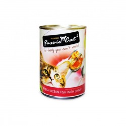 Fussie Cat Canned Food Fresh Ocean Fish with Shrimp 400g