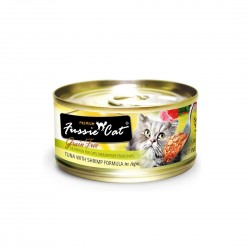 Fussie Cat Canned Food Premium Tuna with Shrimp in Aspic 80g