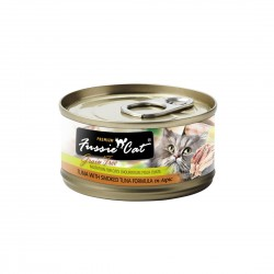 Fussie Cat Canned Food Premium Tuna with Smoked Tuna in Aspic 80g