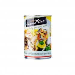 Fussie Cat Canned Food Seafood Platter in Lobster Jelly 400g