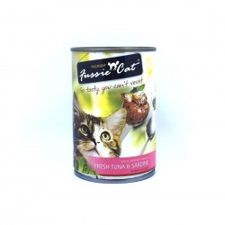 *Purrs & Meows* Fussie Cat Canned Food Tuna & Sardine 400g (24 cans)