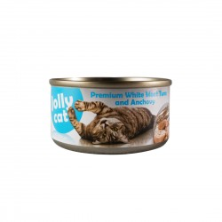 Jolly Cat Canned Food Premium White Meat Tuna & Anchovy 80g