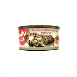 Jolly Cat Canned Food Premium White Meat Tuna & Crab 80g