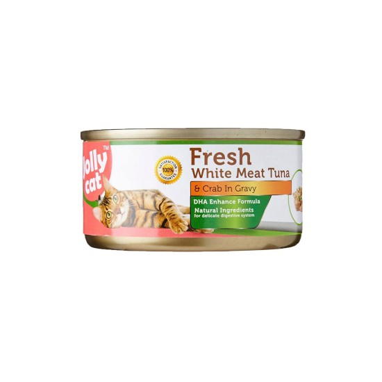 Jolly Cat Canned Food Premium White Meat Tuna & Crab in Gravy 80g