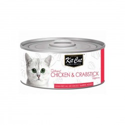 Kit Cat Canned Food Chicken & Crabstick 80g
