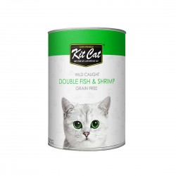 Kit Cat Canned Food Double Fish & Shrimp 400g