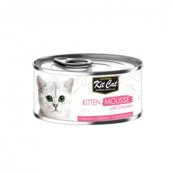 Kit Cat Food Mousse with Chicken for Kitten 80g