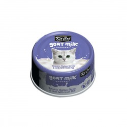 Kit Cat Canned Food Goat Milk Boneless Chicken & Crab 70g 1 ctn