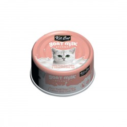 Kit Cat Canned Food Goat Milk Boneless White Meat Tuna Flakes & Salmon 70g 1 ctn