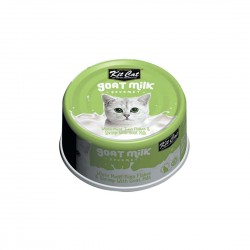 Kit Cat Canned Food Goat Milk Boneless White Meat Tuna Flakes & Shrimp 70g 1 ctn