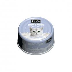 Kit Cat Canned Food Goat Milk Boneless White Meat Tuna Flakes & Whitebait 70g 1 ctn