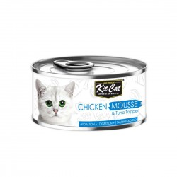 Kit Cat Food Mousse Chicken with Tuna Topper 80g