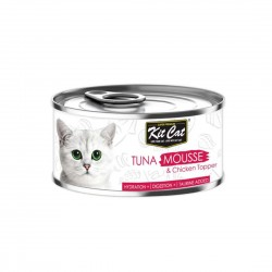 Kit Cat Food Mousse Tuna with Chicken Topper 80g