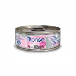 Monge Delicate Cat Canned Food Chicken with Ham 80g