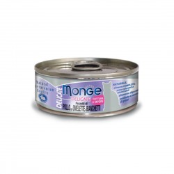 Monge Delicate Cat Canned Food Chicken with Omelette Whitebait 80g