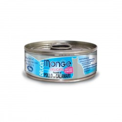 Monge Delicate Cat Canned Food Chicken with Squid 80g