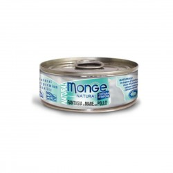 Monge Natural Cat Canned Food Mixed Seafood with Chicken 80g