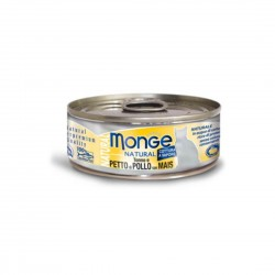 Monge Natural Cat Canned Food Tuna & Chicken with Corn 80g
