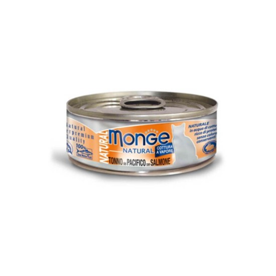 Monge Cat Canned Food Natural Yellowfin Tuna with Salmon 80g 1 ctn