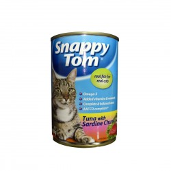 Snappy Tom Cat Canned Food Tuna with Sardine Chunk 400g