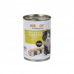 Sumo Cat Canned Food Chunky Sardine in Jelly 400g